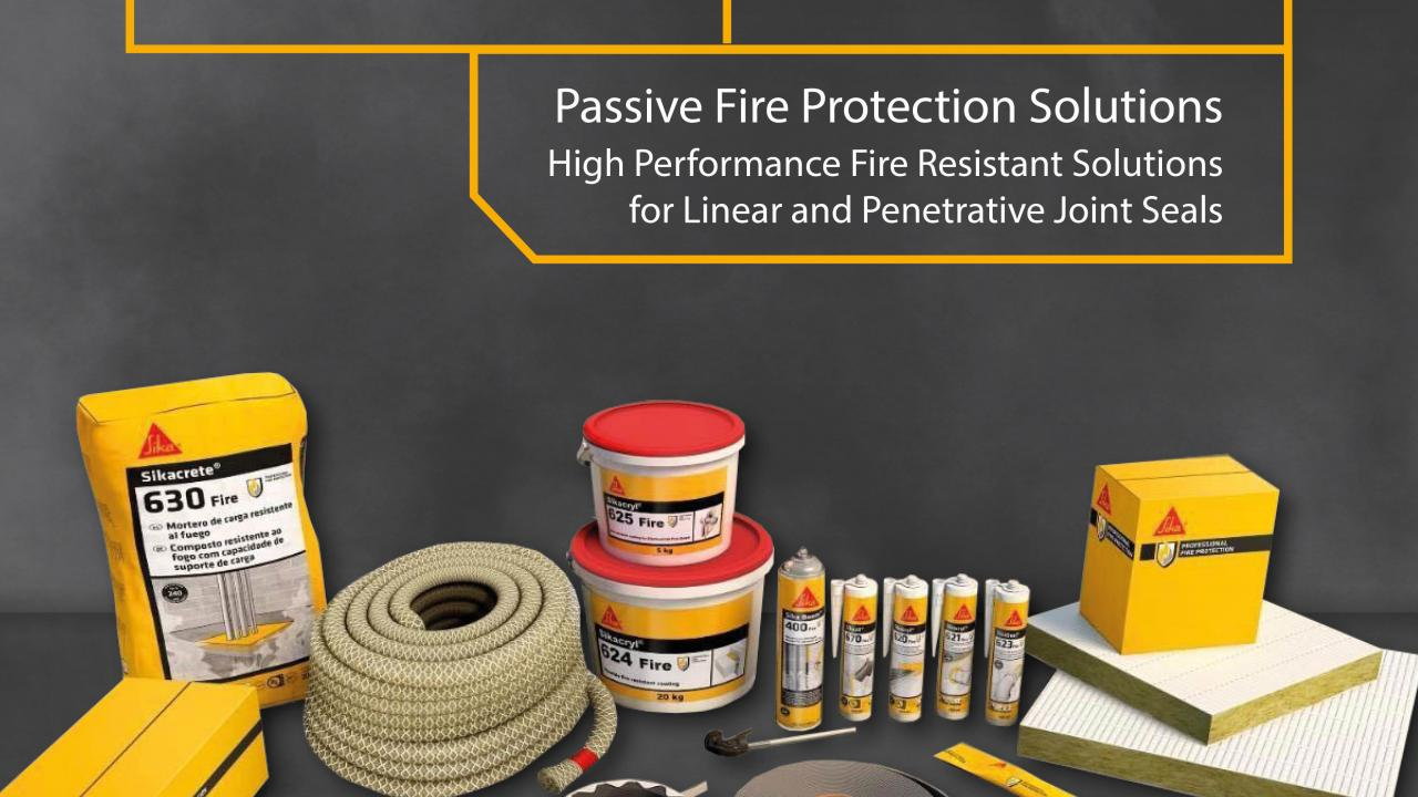 A specifier's guide to passive fire protection products